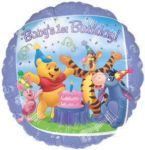 "18"" Pooh Gang Happy Birthday Foil Balloon"