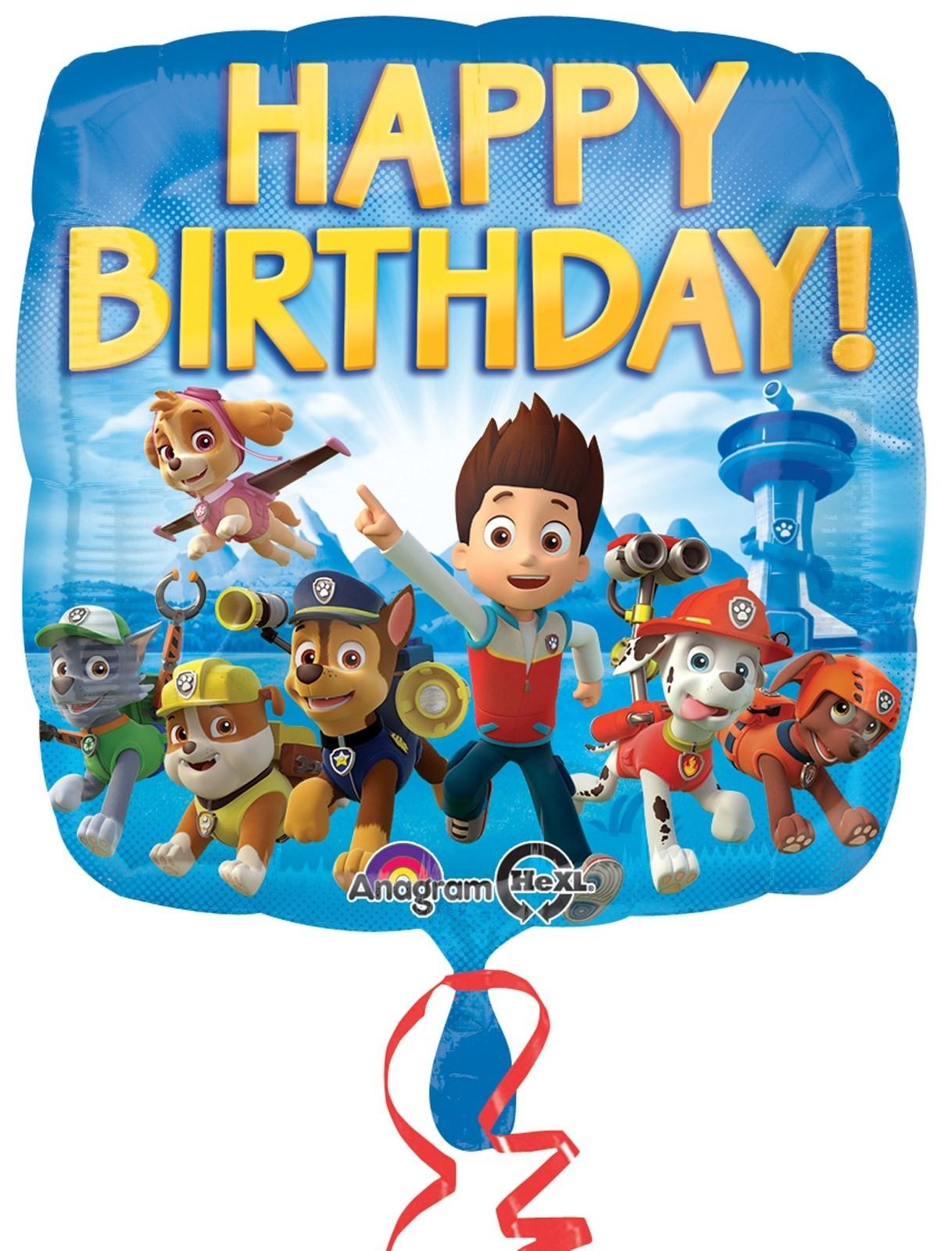 """18"""" Paw Patrol Square Foil Balloon"""