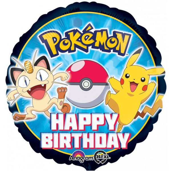 18in Pokemon Happy Birthday Foil Balloon