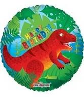 18in Dinosaurs Happy Birthday Foil Balloon