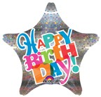 "18"" Sprakle Happy Birthday Foil Balloon"