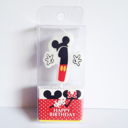 Mickey Mouse 1st Birthday Candle