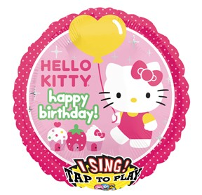 28in Hello Kitty Singing Foil Balloon