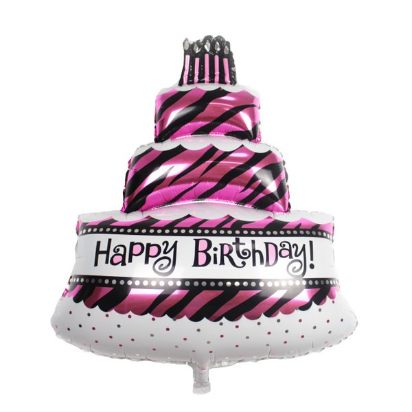 35in Happy Birthday 3 Tiers Cake Balloon