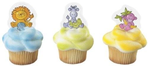 Baby Jungle Animals Pics ~ Designer Cake/Cupcake Topper 12pcs