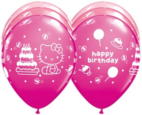 "Hello Kitty Birthday 12"" Round Special Assortment Latex Balloon"