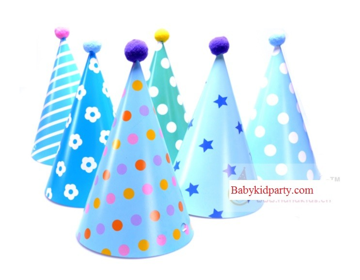 Boy Cone Hats 6pcs