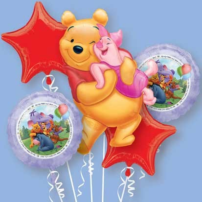 Pooh and Friends Birthday Balloon Bouquet