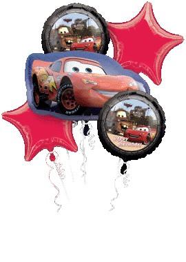 Disney Cars Birthday Balloon Bouquet