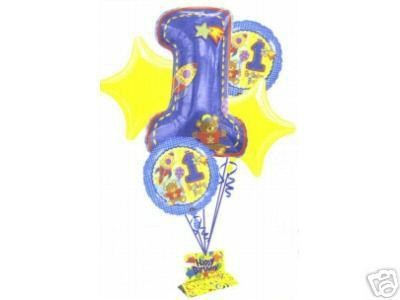Hug & Stitch 1st Birthday Balloon Bouquet