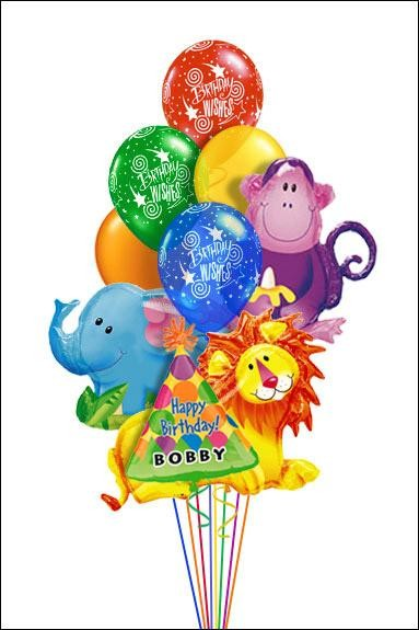 Jungle Animal Balloon Bouquet