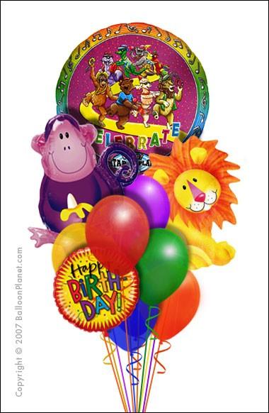 Jungle Animal Balloon Bouquet