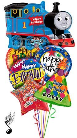 Thomas the Train Balloon Bouquet