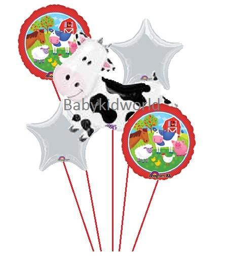 Cow Happy Birthday Balloon Bouquet
