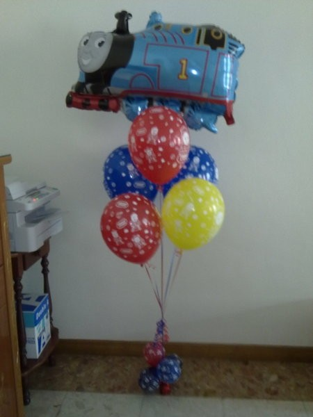 Thomas the Train Balloon Bouquet