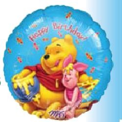 "18"" Winnie the Pooh Honey Happy Birthday"