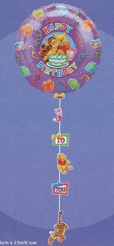 34in Pooh & Friends Happy Birthday Drop-A-Line