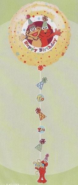 54in Elmo & Friends Happy Birthday Drop-A-Line