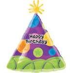 Happy Birthday Party Hat Balloon