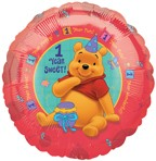 18in Winnie the Pooh Happy 1st Birthday Party