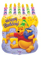 28in Winnie the Pooh Happy Birthday Cake Balloon