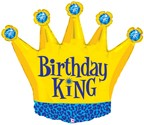 Birthday King Crown Balloon