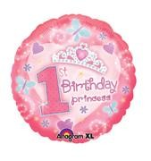 "18"" 1st Birthday Princess Foil Balloon"