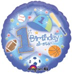 "18"" First Birthday All-Star Balloon"