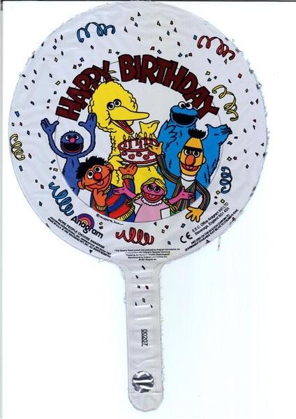 "7"" Sesame Street Air Fill Ballooon"