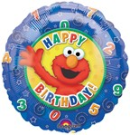 "18"" Elmo Happy Birthday Foil Balloon"
