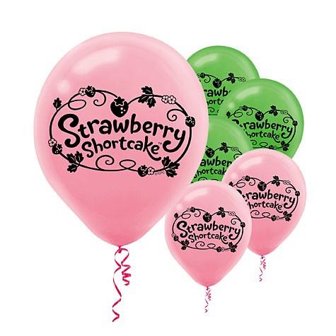 "12"" Strawberry Shortcake Printed Latex Balloons"