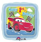 "18"" Disney Cars Happy 1st Birthday Square Balloon"