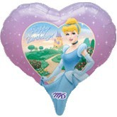 "18"" Happy Birthday Princesses Balloon"