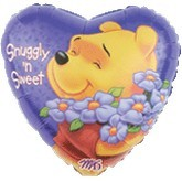 "18"" Pooh Sweet and Snuggly Foil Balloon"