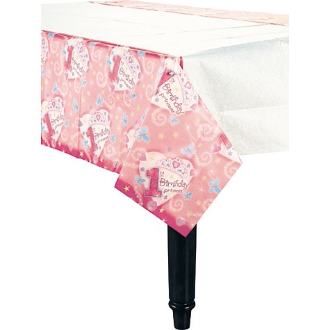Princess 1st Birthday 54in x 102in Paper Tablecover