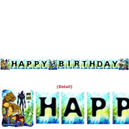 Ben 10 Happy Birthday Banner