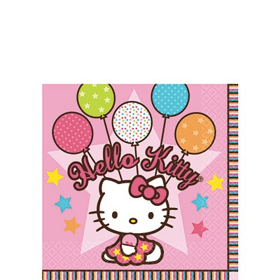 Hello Kitty Balloon Dreams Beverage Napkins 16ct