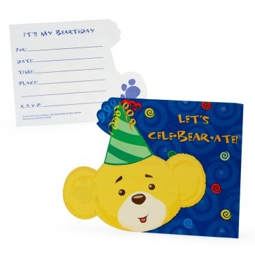 Build-A-Bear Workshop Blue Invitations