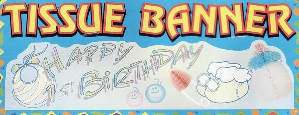 Happy 1st Birthday Banner