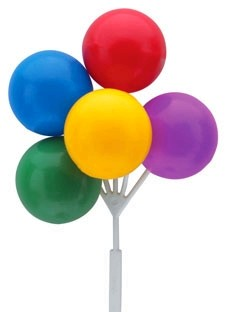 Primary Colour Balloon Cluster Picks