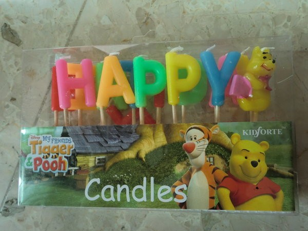 Winnie the Pooh Birthday Candles