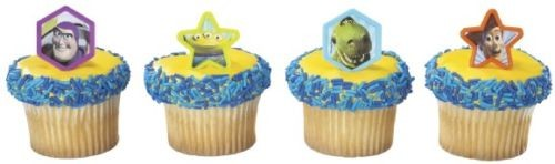 BUZZ Lightyear WOODY TOY STORY 12 Cupcake RINGS Favors