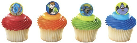BEN 10 Nick Monsters (12) Cupcake Party Favor RINGS