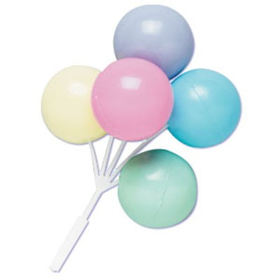 Pastel Colour Balloon Cluster Picks
