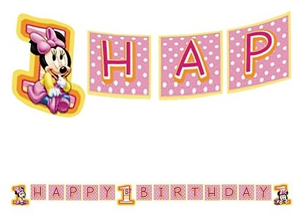 Minnie Mouse 1st Birthday Background Minnie Mouse 1st Birthday