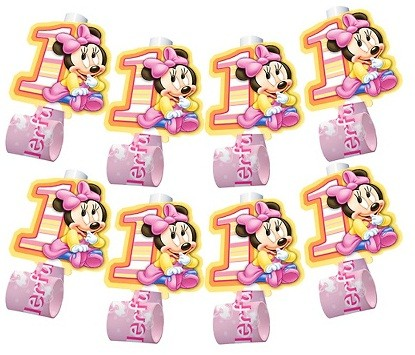 Minnie Mouse 1st Birthday Blowouts 8ct