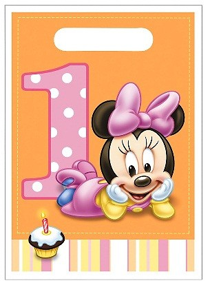 Minnie Mouse 1st Birthday Favor Bags 8ct