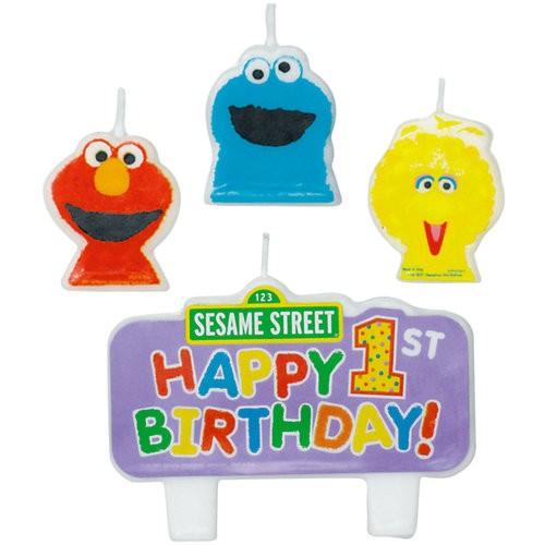 Sesame Street 1st Birthday Candle