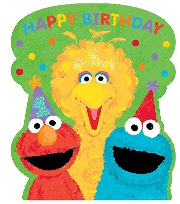 Sesame Street 1st Birthday Cutouts