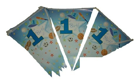 All Star Boy Paper Flag Banner